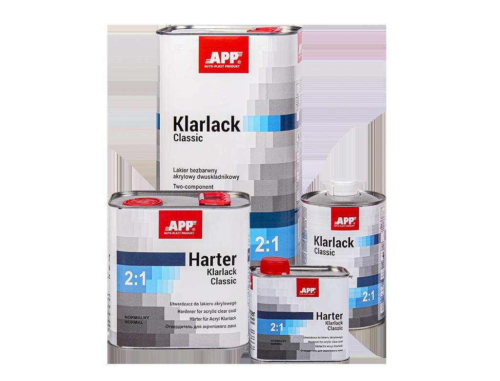 APP 2K HS Acryl Klarlack Classic 2:1 + Harter Lakier bezbarwny akrylowy dwuskładnikowy + utwardzacz