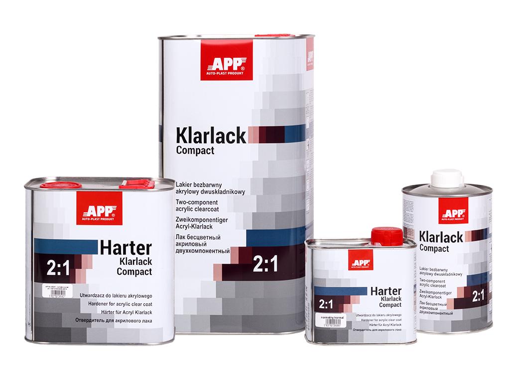 APP 2K Acryl Klarlack Compact 2:1+Harter Lakier bezbarwny akrylowy dwuskładnikowy + utwardzacz