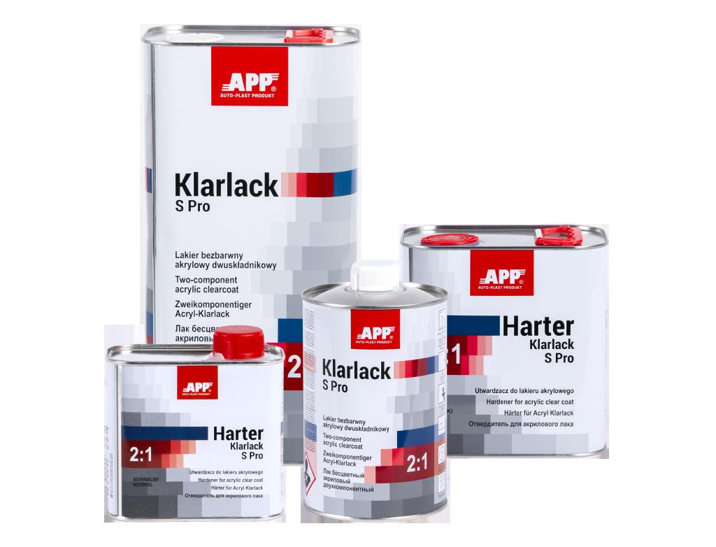 APP Klarlack S Pro 2:1 Lakier bezbarwny akrylowy dwuskładnikowy + utwardzacz