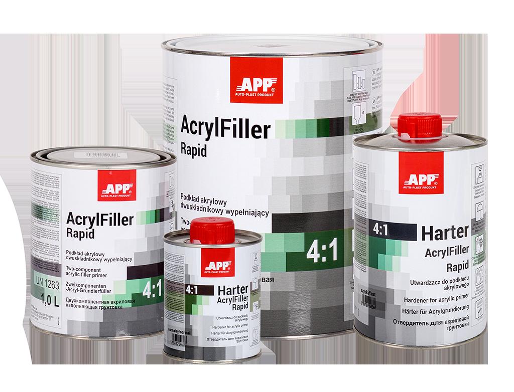 APP 2K HS Rapid Acrylfiller 4:1+ Harter Podkład akrylowy dwuskładnikowy wypełniający + utwardzacz