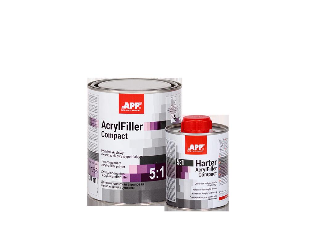 APP AcrylFiller Compact 5:1 + Harter Podkład akrylowy dwuskładnikowy wypełniający + utwardzacz