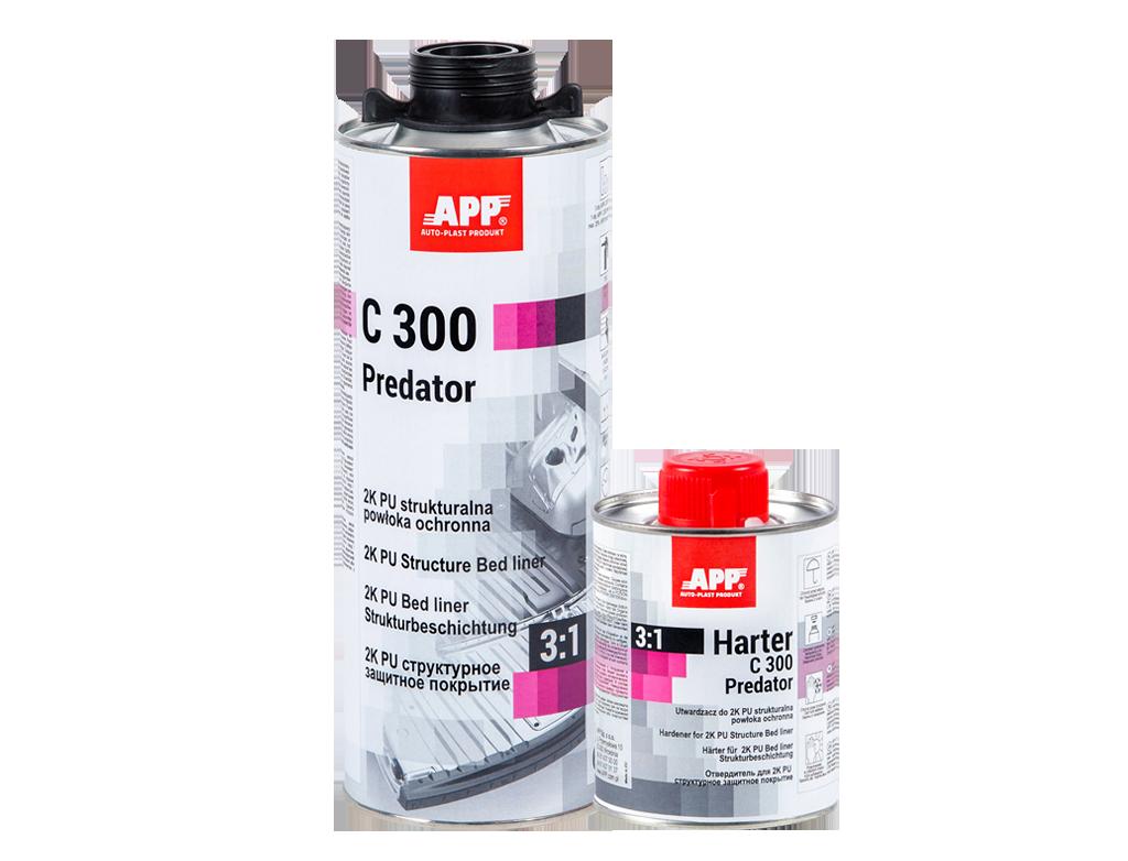 APP C300 Predator 3:1 + Harter Dwuskładnikowa poliuretanowa strukturalna powłoka ochronna + utwardzacz