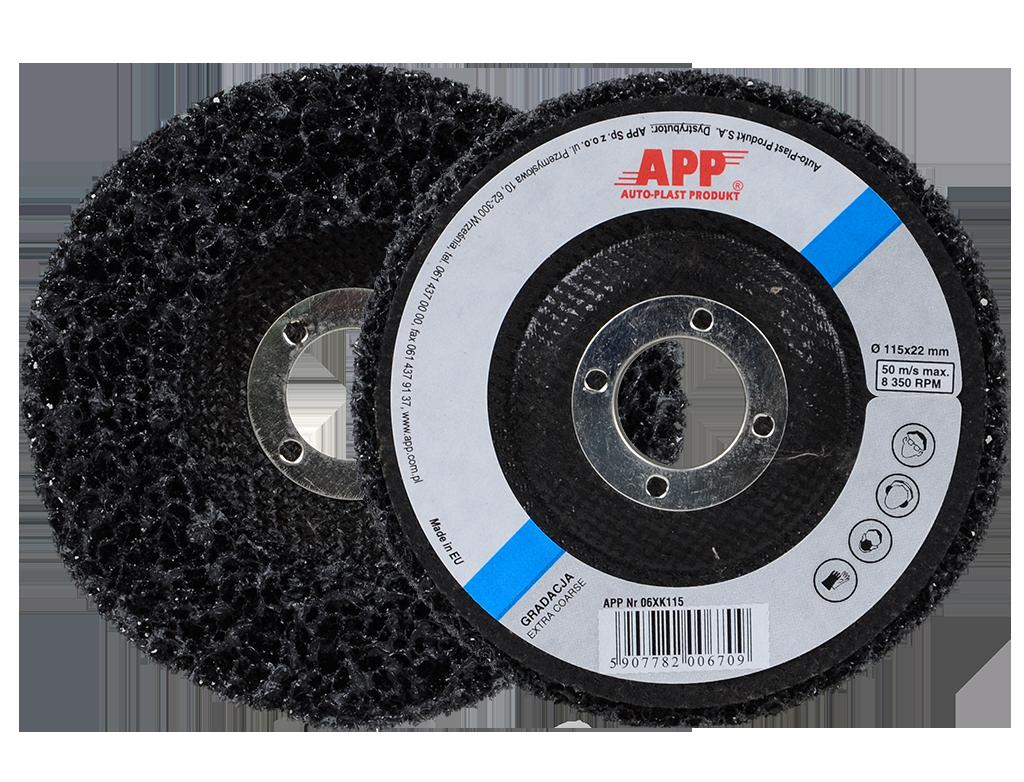 APP DSK Dysk ścierny czarny do szlifierek kątowych
