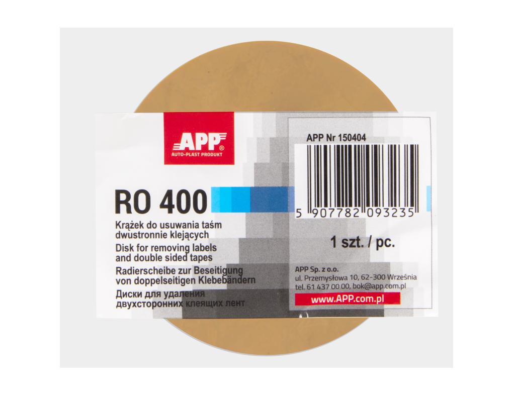 APP RO 400 Krążek do usuwania taśm dwustronnie klejących