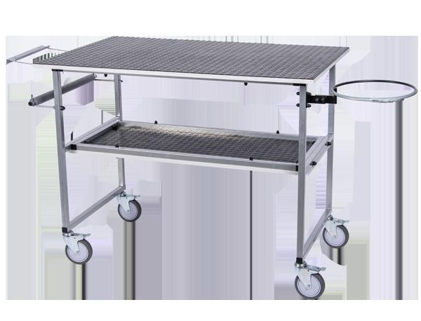 NTools MTABLE Mobilny stół warsztatowy z obręczą na worek i dyspenserem na czyściwo