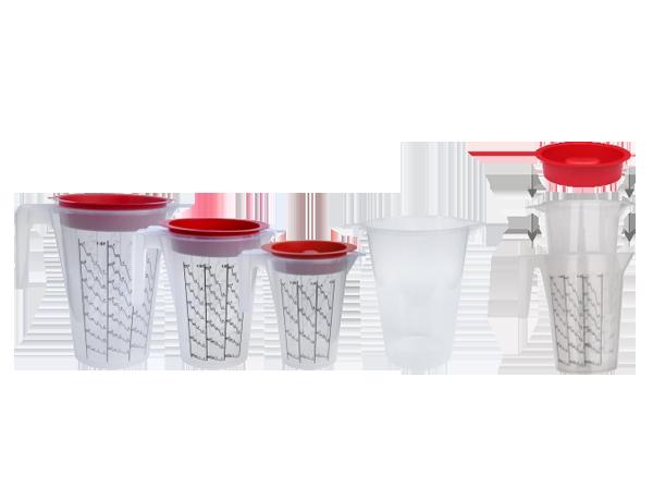 APP Cup-System Kubek do mieszania farb i lakierów + wkład + pokrywka