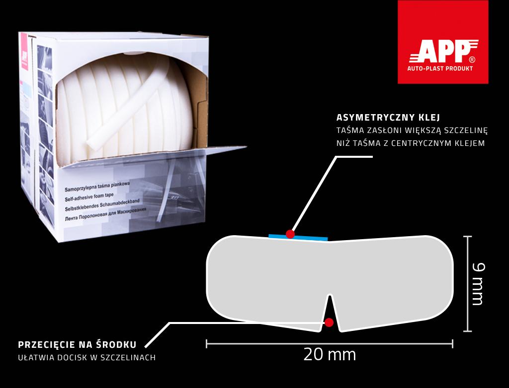 APP Wide Tape Samoprzylepna taśma piankowa