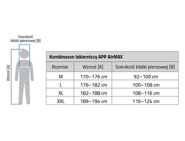 APP AirMax Kombinezon lakierniczy