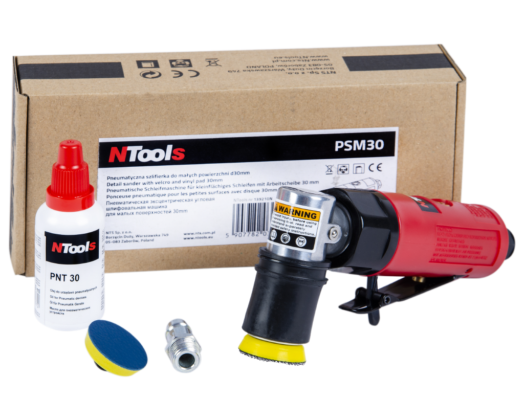 NTools PSM30 Pneumatic grinder for small areas with a shield 30mm