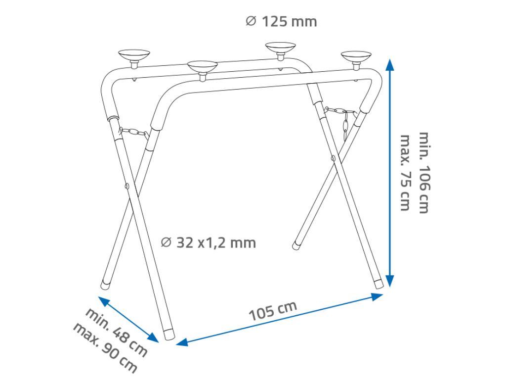 NTools UNI Stand Uniwersalny stojak rozstawny z gumowymi uchwytami