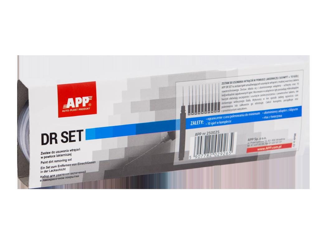 APP DR SET Zestaw do usuwania wtrąceń w powłoce lakierniczej