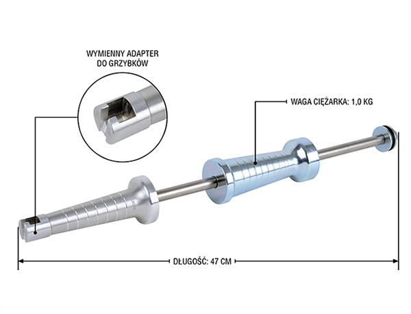 NTools MB1000  Młotek bezwładnościowy aluminiowy do grzybków