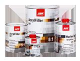APP 2K HS Acrylfiller 5:1 + Harter Podkład akrylowy dwuskładnikowy wypełniający + utwardzacz
