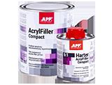 APP 2K HS Compact 5:1 + Harter Podkład akrylowy dwuskładnikowy wypełniający + utwardzacz