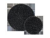 APP DS Dysk ścierny czarny na trzpień mocujący