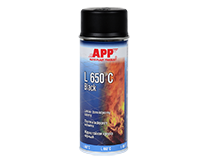 APP L 650°C Black Spray Heat-resistant paint