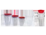 APP Cup System Kubek do mieszania farb i lakierów + wkład + pokrywka