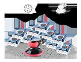 APP QUARTZ RS 80 Zestaw materiałów ściernych (1000 szt.)
