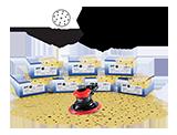 APP 40KZU Zestaw materiałów ściernych (700 szt.)